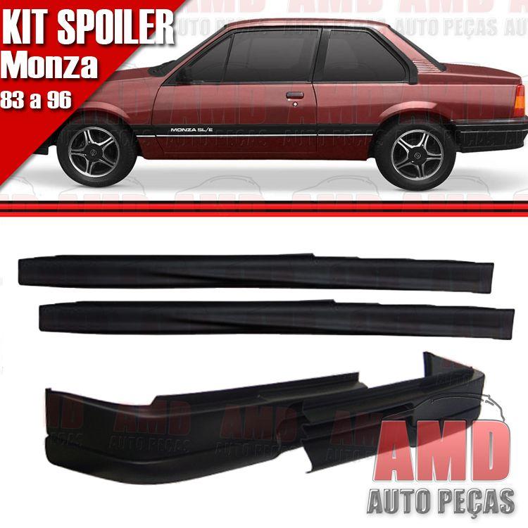 Kit Spoiler Monza 83 á 96 2 Portas Dianteiro Sem Furo + Lateral Sem Tela  - Amd Auto Peças