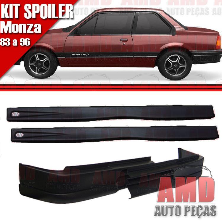 Kit Spoiler Monza 83 á 96 2 Portas Dianteiro Sem Furo + Lateral Com Tela  - Amd Auto Peças