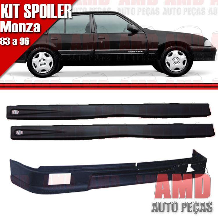 Kit Spoiler Monza 83 á 96 4 Portas Dianteiro Com Furo + Lateral Com Tela  - Amd Auto Peças