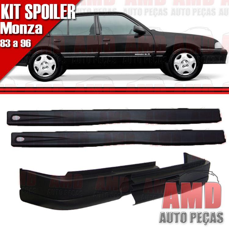 Kit Spoiler Monza 83 á 96 4 Portas Dianteiro Sem Furo + Lateral Com Tela  - Amd Auto Peças
