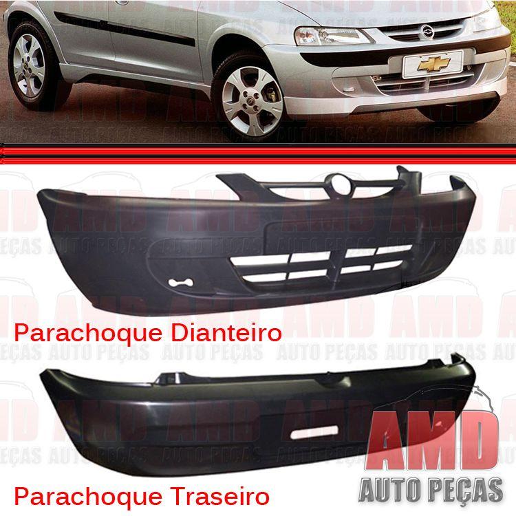 Parachoque Dianteiro e Traseiro Celta 01 a 05 Preto Liso  - Amd Auto Peças