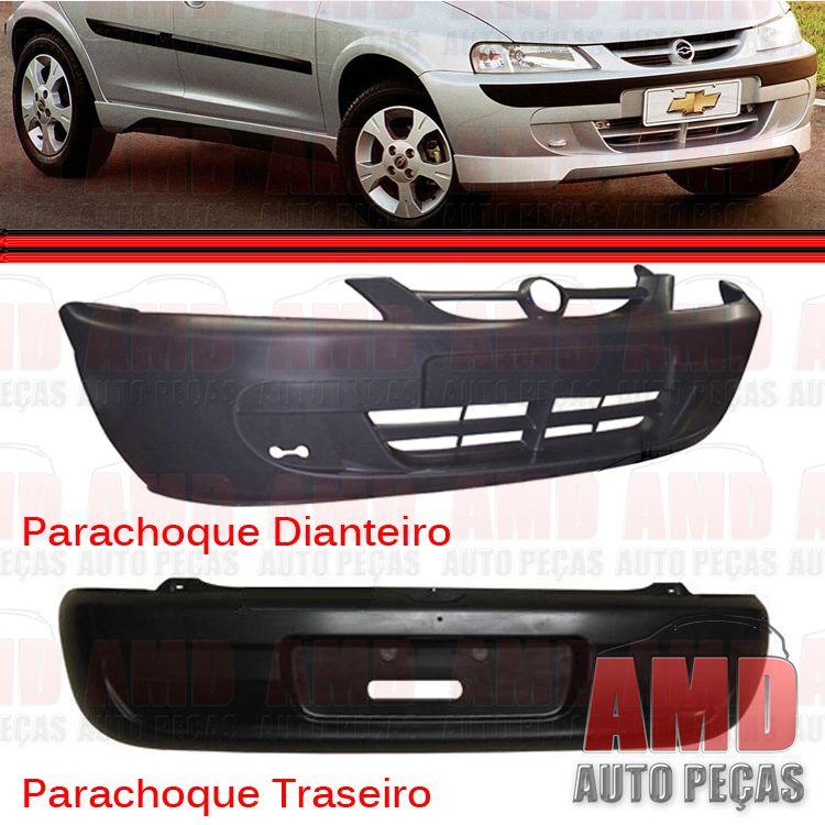 Parachoque Dianteiro e Traseiro Celta 00 á 06 Preto Texturizado   - Amd Auto Peças