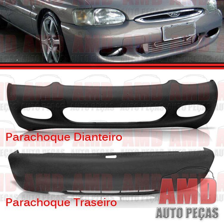 Parachoque Dianteiro e Traseiro Escort Zetec Hatch 97 a 03 Preto com Espuma Interna  - Amd Auto Peças