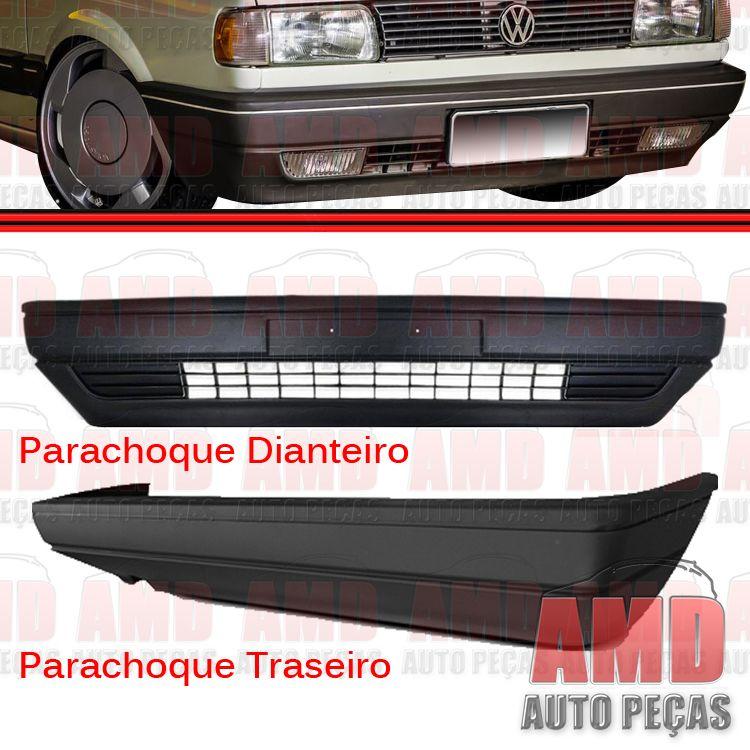 Kit Parachoque Dianteiro e Traseiro Gol 87 a 95 Preto  - Amd Auto Peças