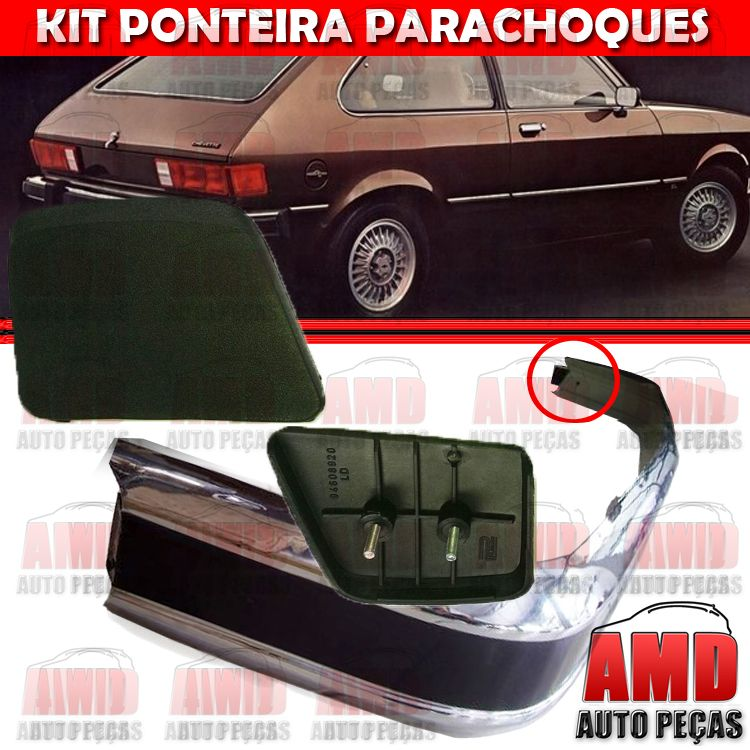 Kit Ponteira Parachoque Traseira Chevette Maraj� 80 a 82 (2 Unidades)  - Amd Auto Pe�as