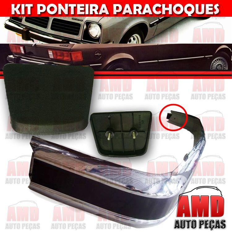 Kit Ponteira Parachoque Dianteira e Traseira Chevette Marajó 80 a 82 (4 Unidades)  - Amd Auto Peças