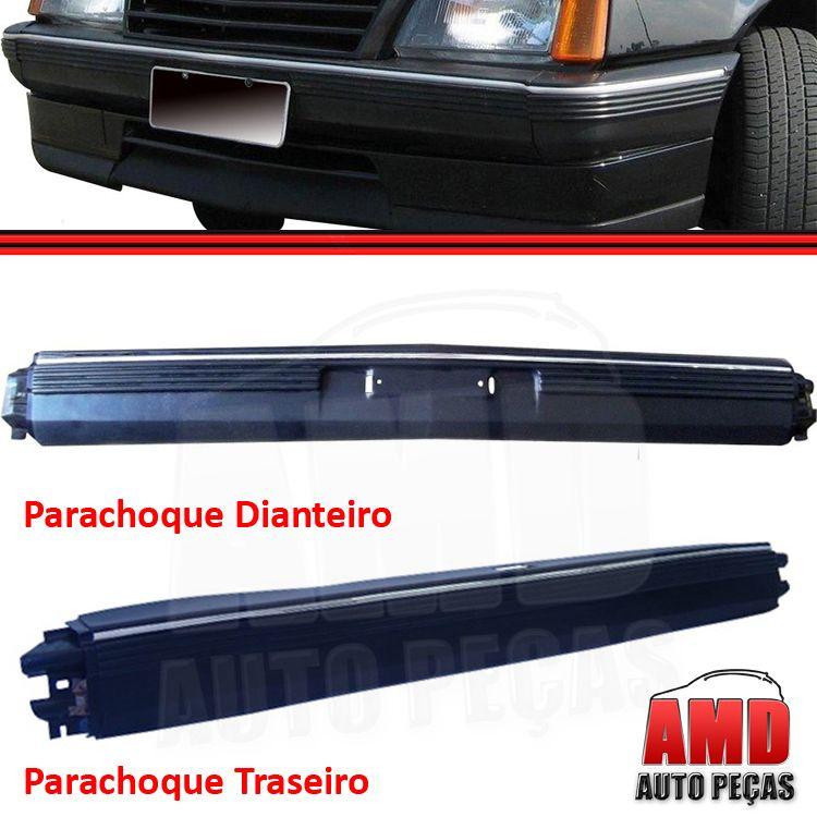 Parachoque Dianteiro e Traseiro Monza 82 a 90 Com Alma Interna Preto Texturizado  - Amd Auto Peças