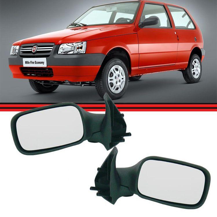 Retrovisor Espelho Uno Fire Flex 06 a 10 2 Portas Sem Controle  - Amd Auto Pe�as