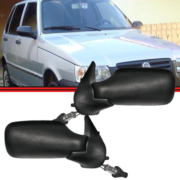 Retrovisor Espelho Uno Fire Flex 01 a 06 2 Portas Com Controle  - Amd Auto Peças