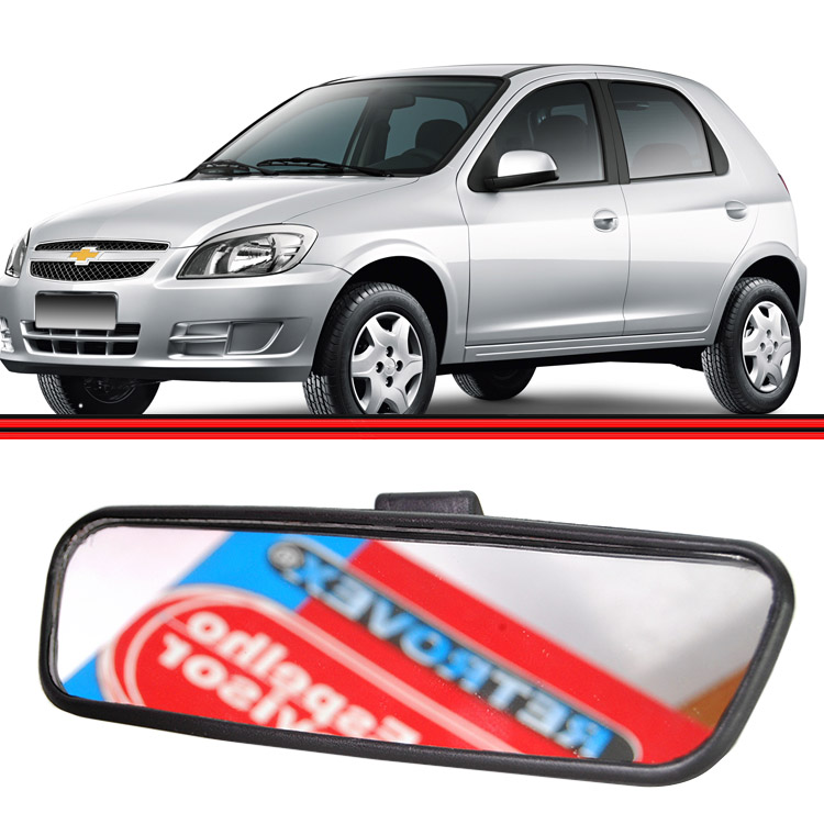 Retrovisor Espelho Interno Corsa Hatch Sendan 02 a 13 Montana 02 a 13 Celta 01 a 13  Prisma 07 a 13 Plano  - Amd Auto Pe�as