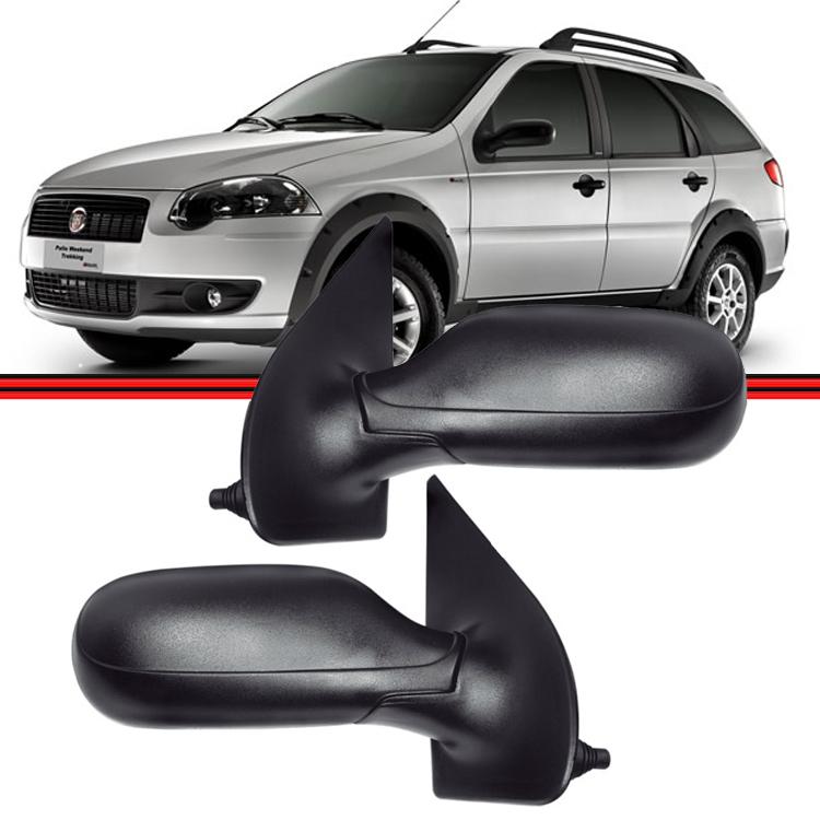 Retrovisor Espelho Palio Siena Weekend 08 A 10 4 Portas Com Controle  - Amd Auto Peças