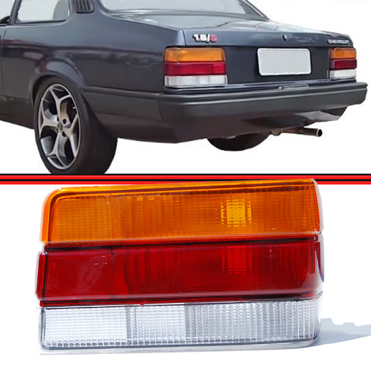 Lanterna Traseira Chevette 87 a 93 Tricolor  - Amd Auto Peças