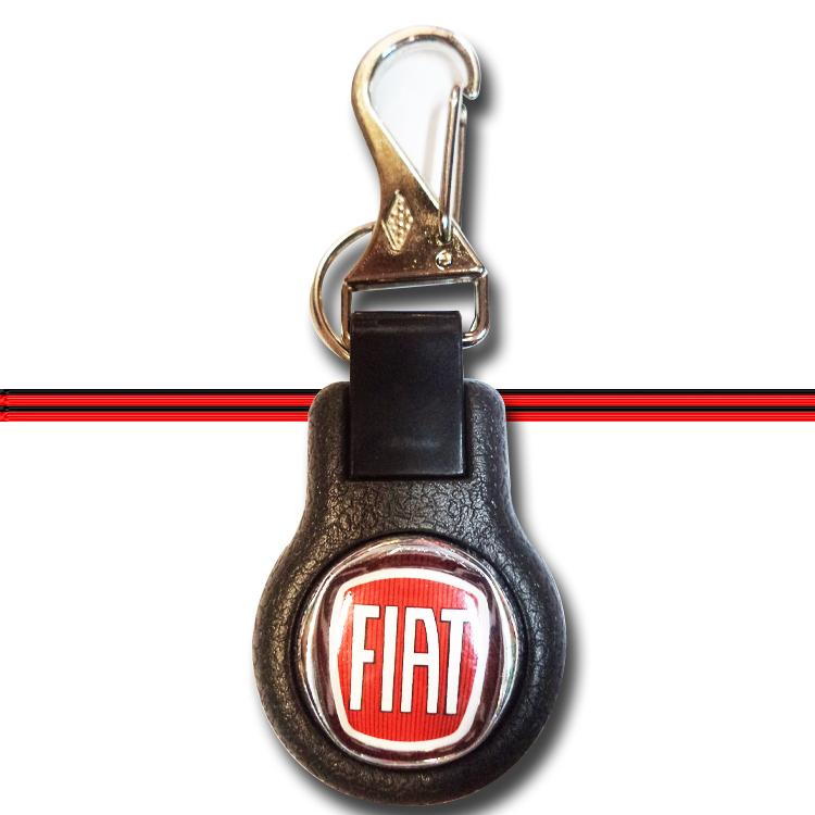 Chaveiro Mosquetão Emborrachado Carro Automotivo Fiat  - Amd Auto Peças
