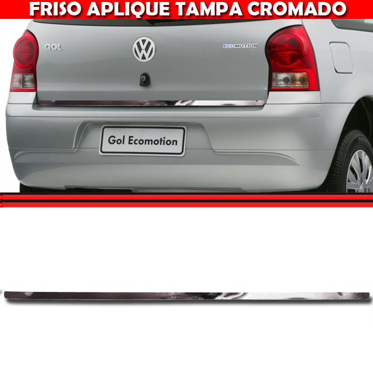 Friso Tampa Traseira Porta Mala Cromado Gol G4 GIV 05 A 08  - Amd Auto Pe�as