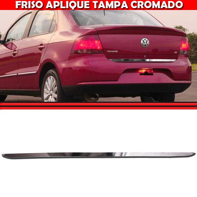 Friso Tampa Traseira Porta Mala Cromado Voyage G5 GV 08 A 13  - Amd Auto Pe�as