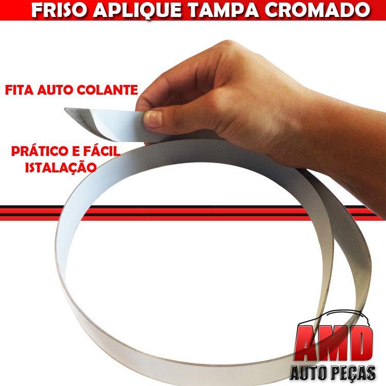 Friso Tampa Traseira Porta Mala Cromado Palio 04 a 10  - Amd Auto Pe�as