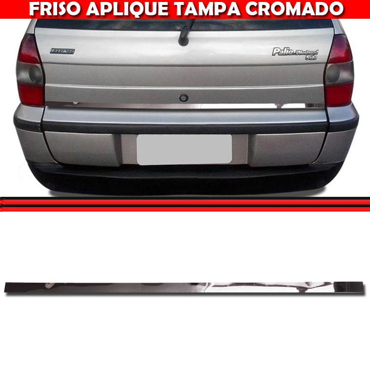 Friso Tampa Traseira Mala Cromado Palio Weekend 96 a 00  - Amd Auto Pe�as