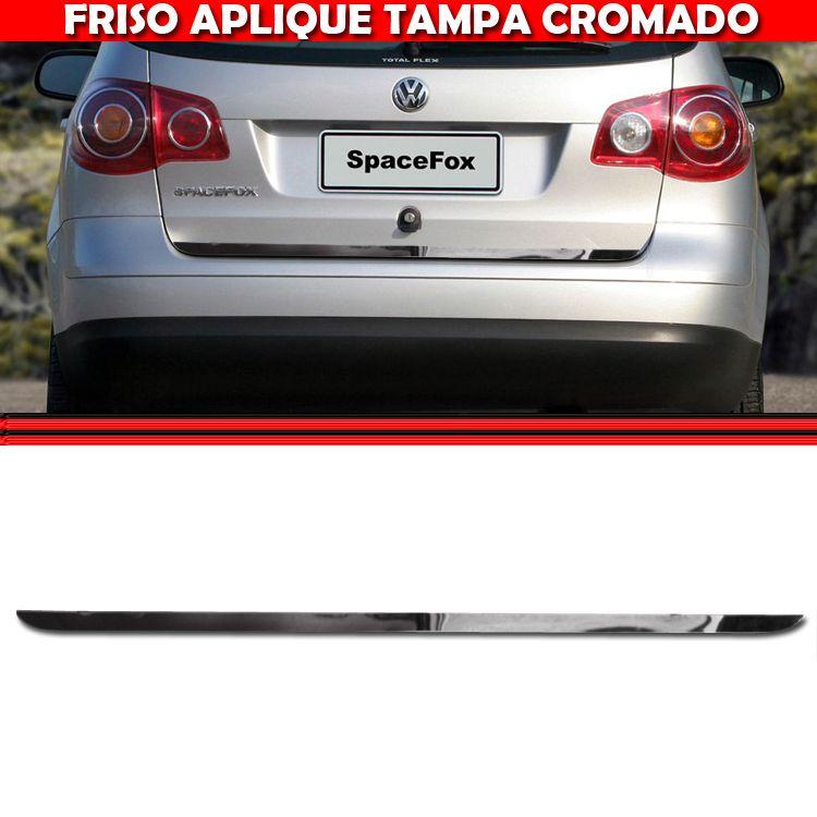 Friso Tampa Traseira Porta Mala Cromado Spacefox 03 A 10  - Amd Auto Peças
