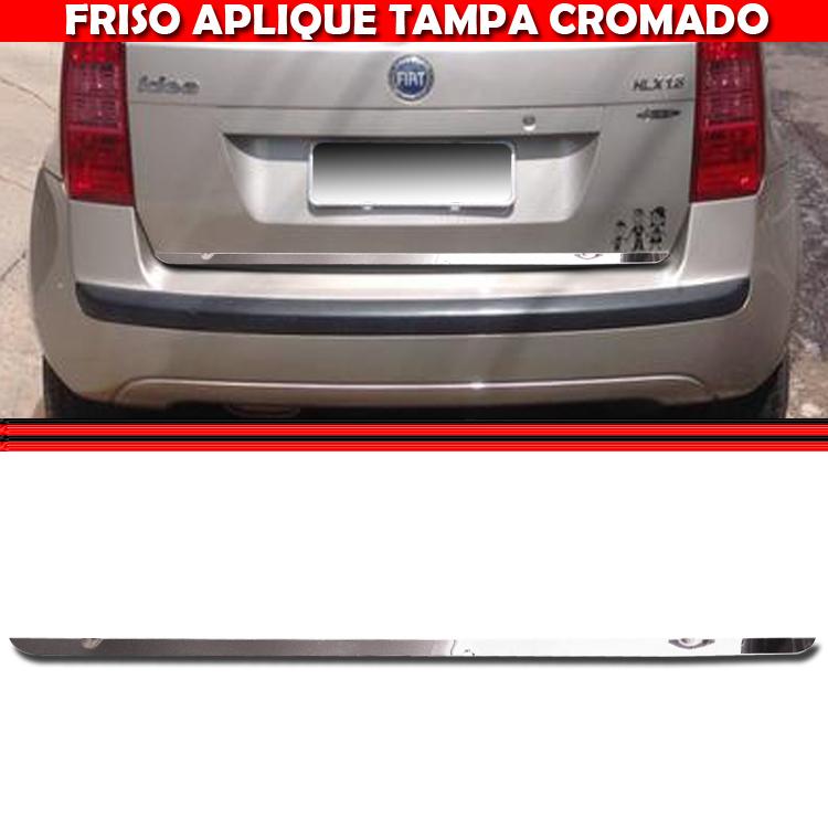 Friso Tampa Traseira Porta Mala Cromado Idea 05 A 10  - Amd Auto Pe�as