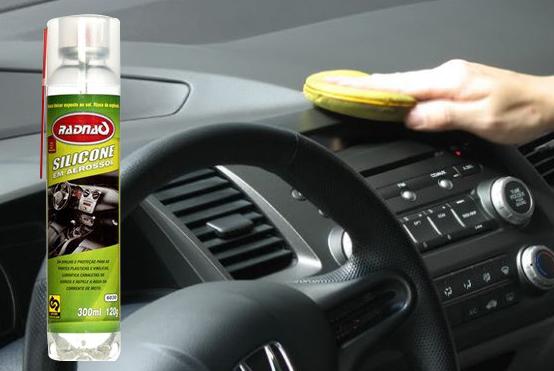 Silicone Spray Painel Lubrifica Borracha Canaleta Carro