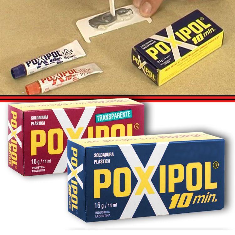 Poxipol Adesivo Cola Epoxi Pastoso Transparente ou Cinza 16g14ml  - Amd Auto Peças