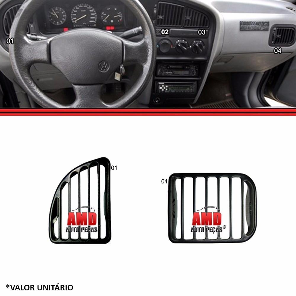 Tela Grade Ar Difusor Painel Lateral Logus Pointer 93 a 98  - Amd Auto Peças