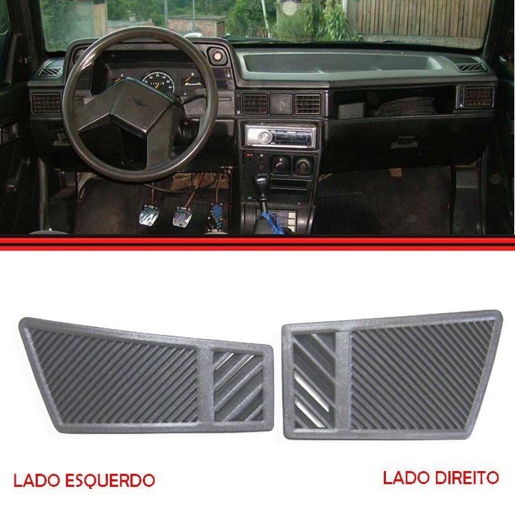 Tela Grade Ar Difusor Painel Lateral Kadett Ipanema 85 a 96 Cinza  - Amd Auto Peças