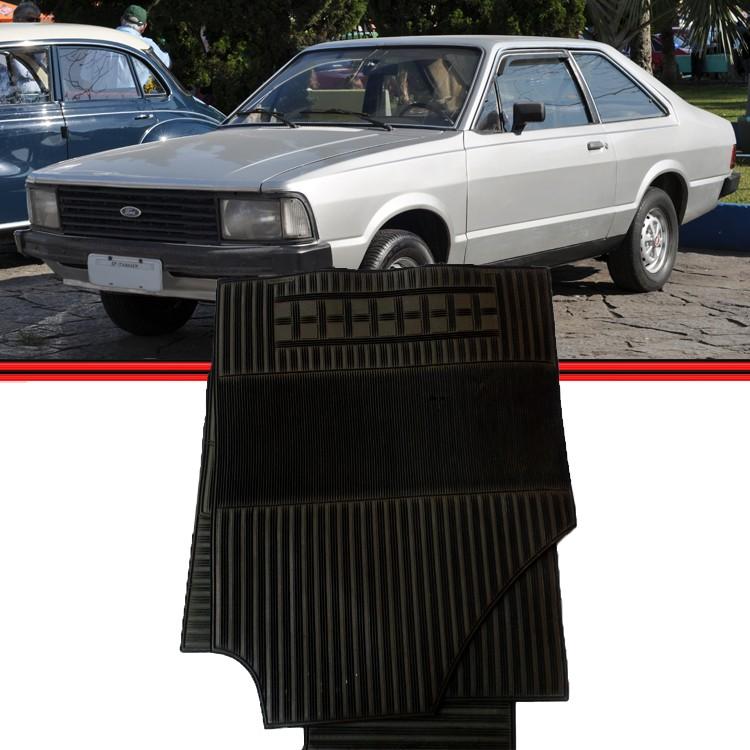 Jogo Tapete Corcel II Belina II Del Rey 83 a 96 Borcol Preto  - Amd Auto Peças