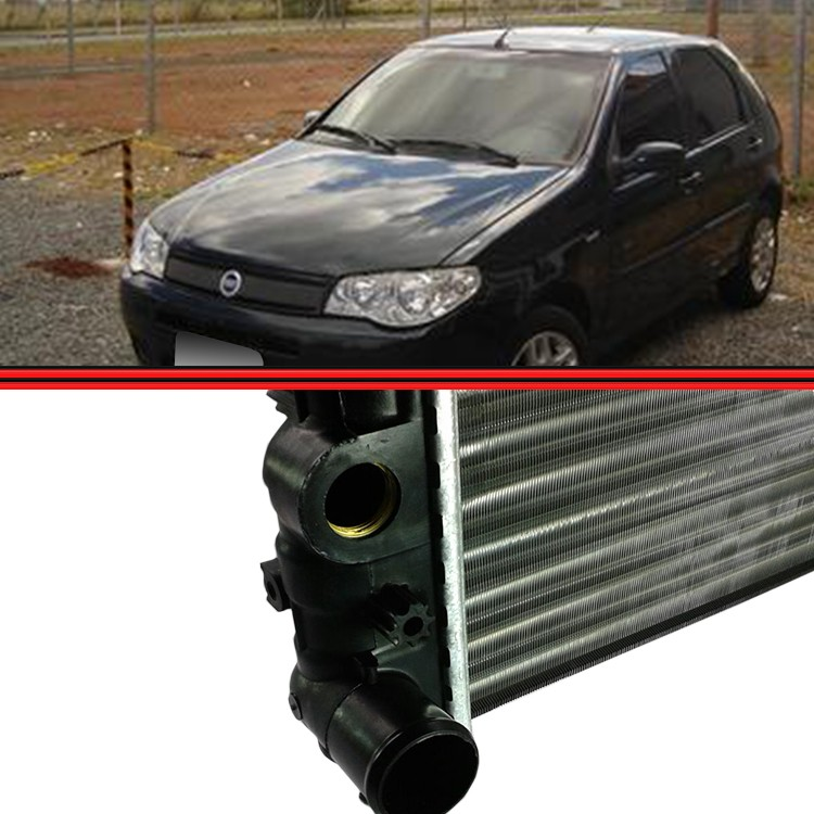 Radiador Palio Strada Siena 1.0 1.3 1.4  - Amd Auto Peças