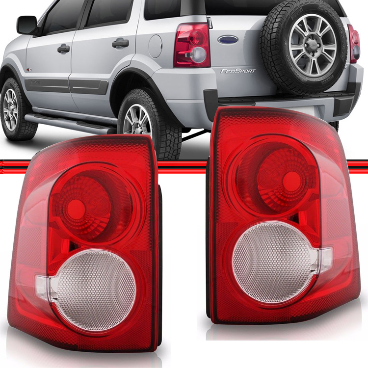 Lanterna Traseira EcoSport 08 a 12 Bicolor  - Amd Auto Peças