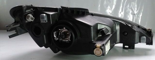 Farol 206 99 a 04 Foco Simples Lente Raiada Lado Esquerdo  - Amd Auto Peças