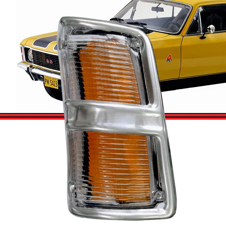 Lanterna Dianteira Pisca Opala Caravan 75 a 79 Cristal  - Amd Auto Peças