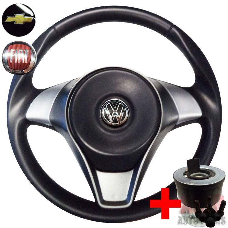 Volante Esportivo Attractive Rallye Gol Saveiro Voyage G5 Polo Fox Golf + Cubo  - Amd Auto Peças