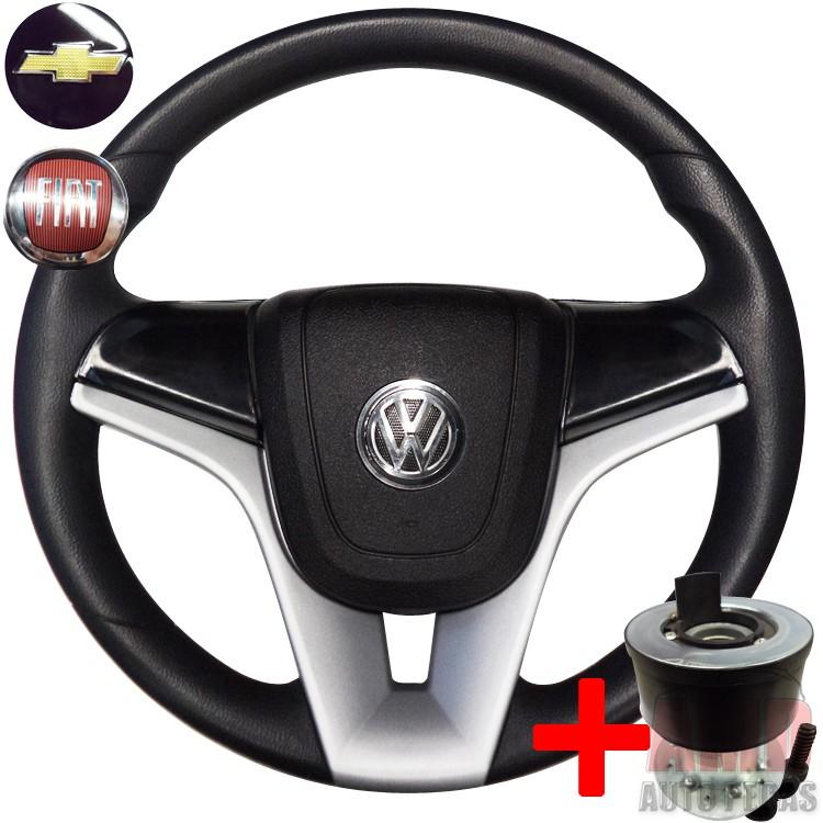 Volante Cruze Gol Parati Saveiro Golf G2 G3 G4 + Cubo Preto  - Amd Auto Peças