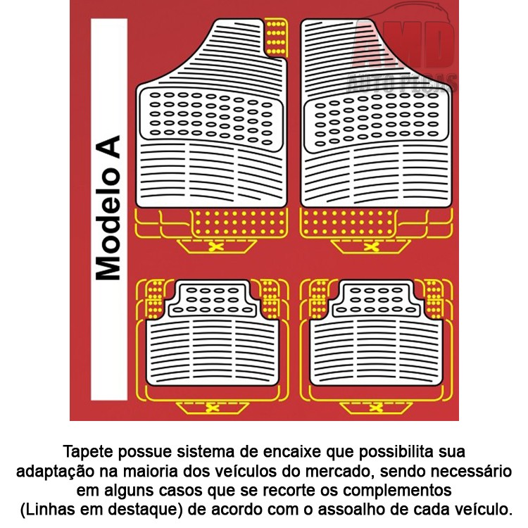 Jogo Tapete Automotivo Carro Corolla Fielder 03 a 10  - Amd Auto Peças