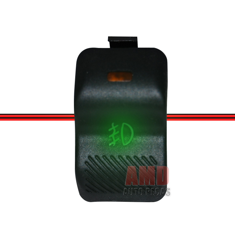 Interruptor Farol Milha Gol Parati Saveiro GII Led Verde  - Amd Auto Pe�as