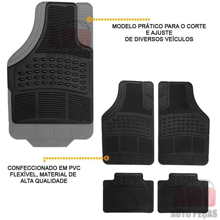 Jogo Tapete Automotivo Carro Capitiva Cruze S10 Nova Trailblazer Spin  - Amd Auto Peças