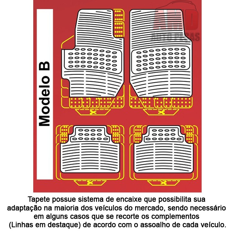 Jogo Tapete Automotivo Carro Peugeot 207 307 308 408 508  - Amd Auto Peças