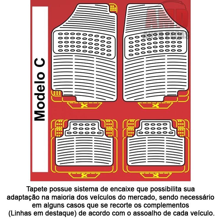 Jogo Tapete Automotivo Carro Silverado  - Amd Auto Peças
