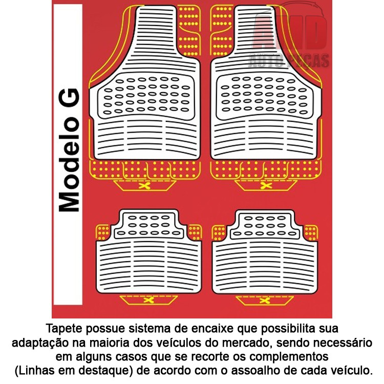 Jogo Tapete Automotivo Carro Nissan Frontier  - Amd Auto Peças
