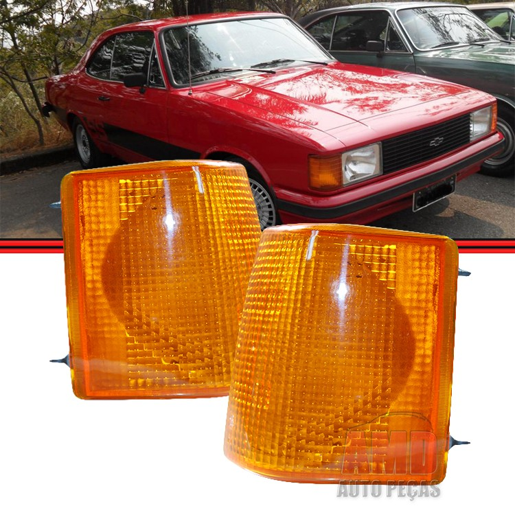 Lanterna Dianteira Opala Caravan 88 a 92 Amarela  - Amd Auto Peças