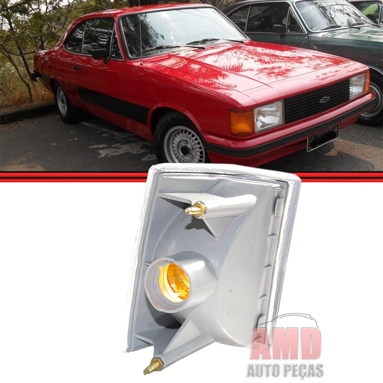 Lanterna Dianteira Opala Caravan 88 a 92 Cristal Acrílico  - Amd Auto Peças