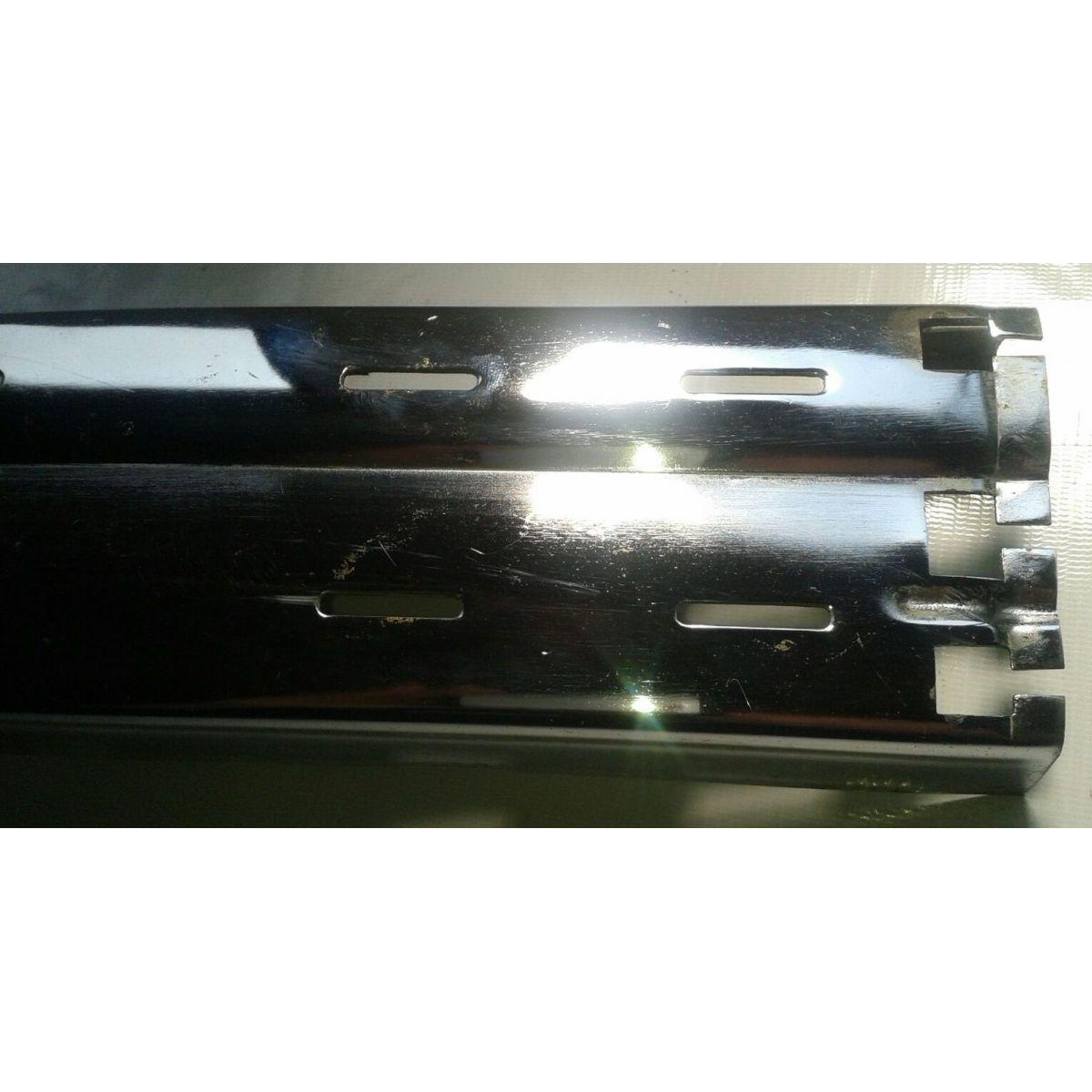 Parachoque Lamina Dianteiro Escort XR3 84 a 86 Com Furos Para Borrachão (Almofada) Cromado  - Amd Auto Peças