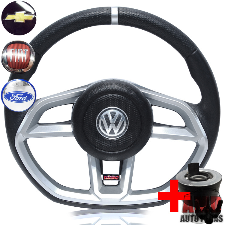 Volante Golf GTI Gol Parati Voyage Saveiro Passat + Cubo  - Amd Auto Peças
