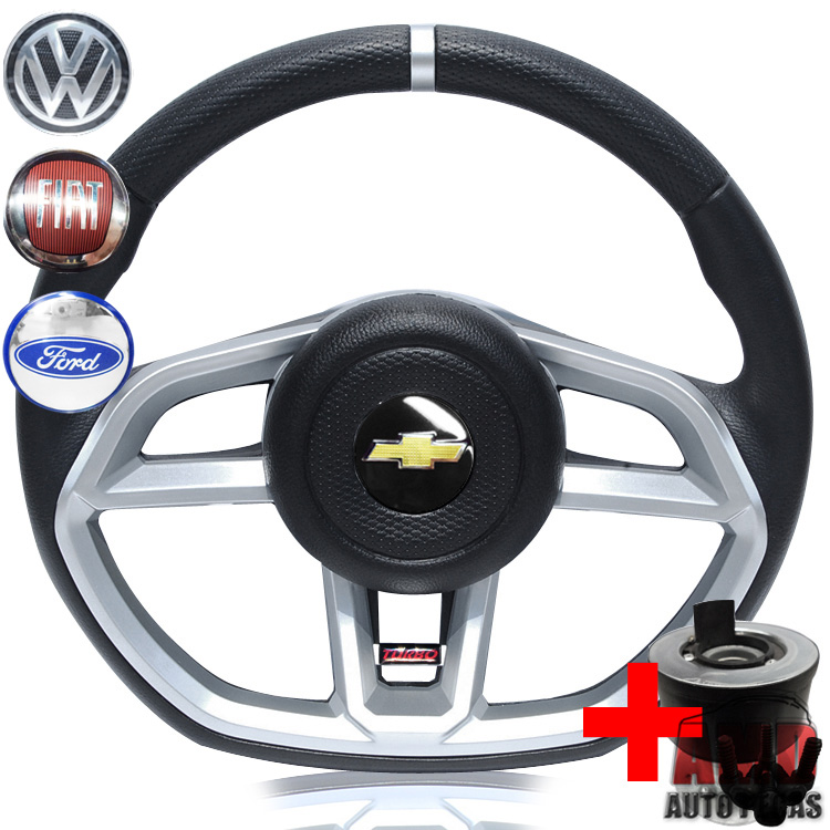 Volante Golf GTI Celta 01 a 05 Buzina Lateral + Cubo  - Amd Auto Peças