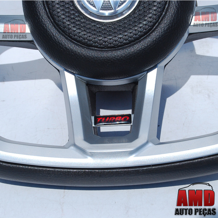 Volante Golf GTI Fiesta Ka Focus Ecosport Grafite + Cubo  - Amd Auto Peças