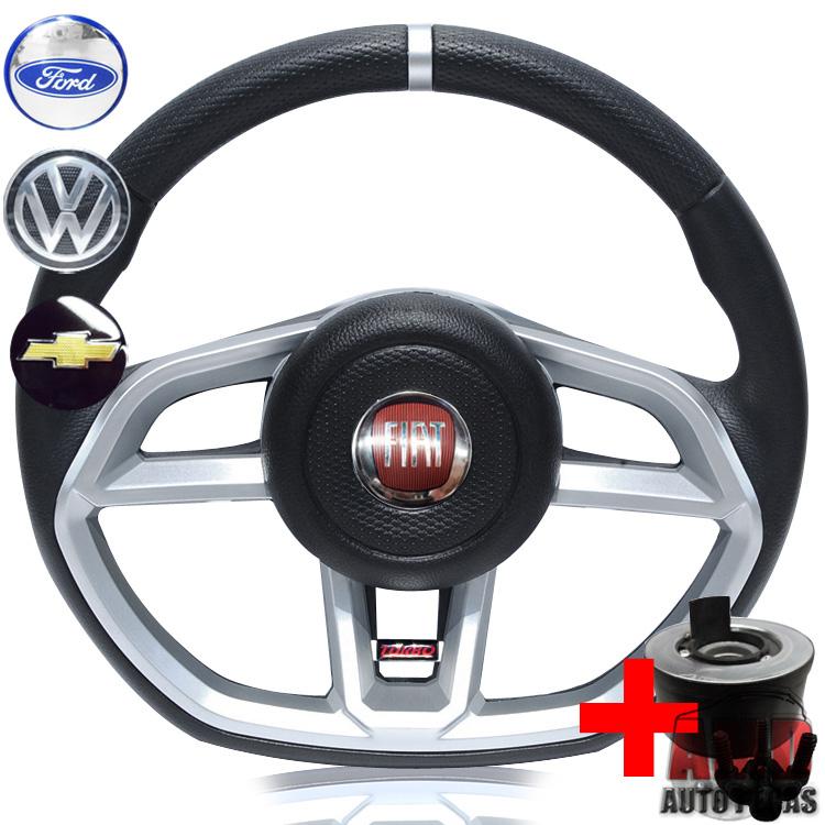 Volante Golf GTI Uno Premio Fiorino Elba Buzina Central + Cubo  - Amd Auto Peças