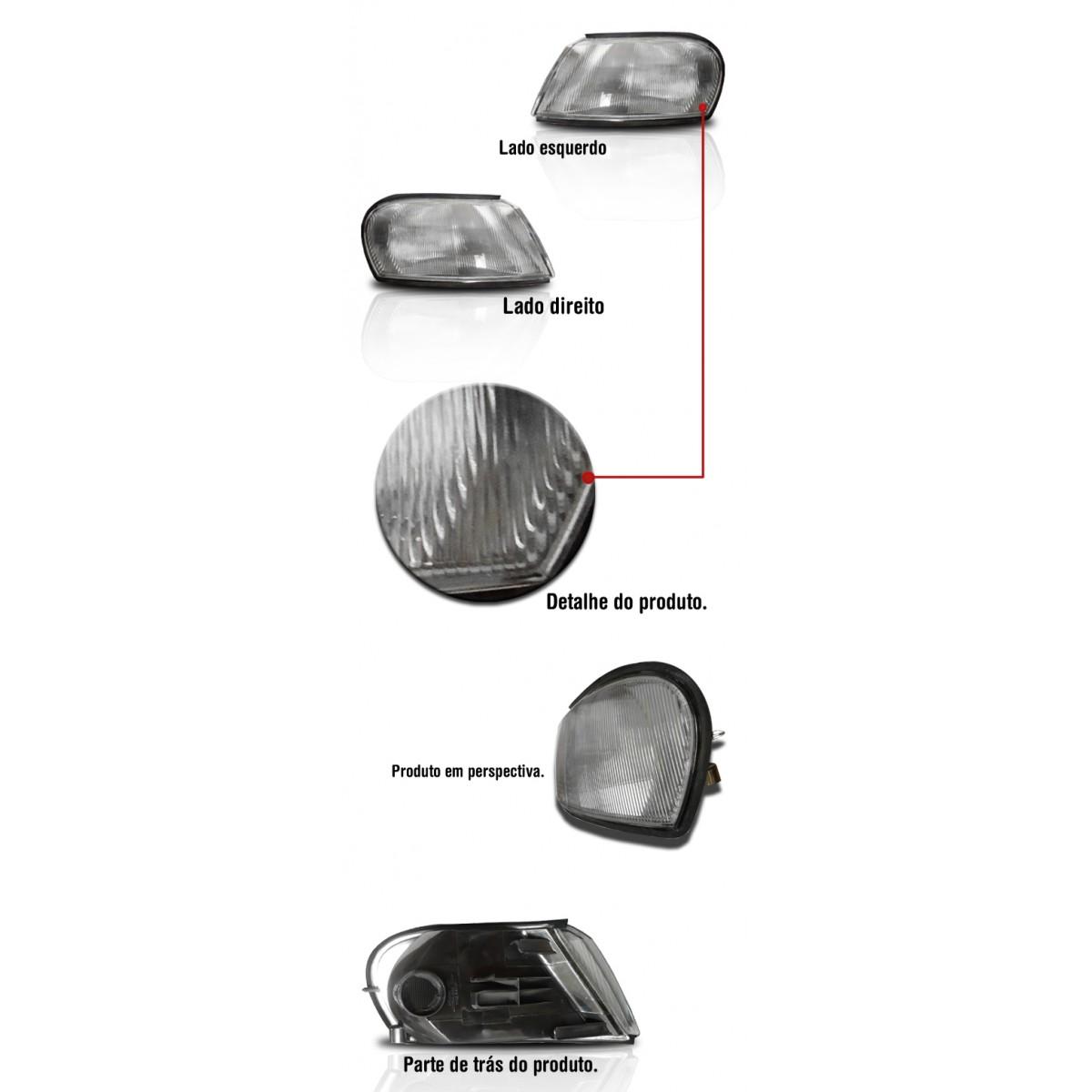 Lanterna Dianteira Vectra 97 � 99 Cristal  - Amd Auto Pe�as