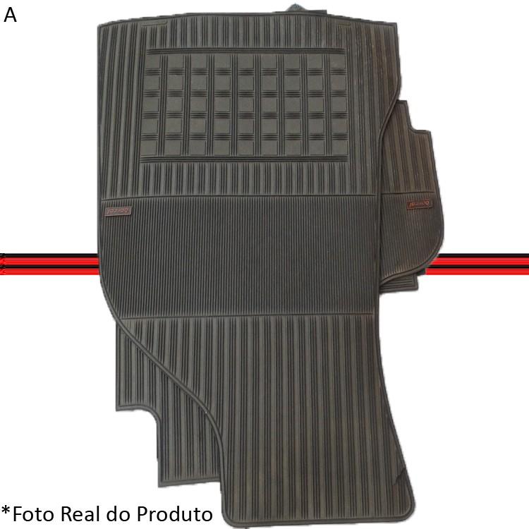 Jogo Tapete Borracha Tempra E Tipo Borcol Cinza Original Época  - Amd Auto Peças