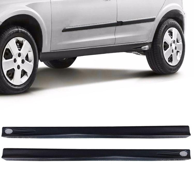 Par Spoiler Lateral Corsa Hatch Super 96 A 03 4 Portas Plastico Preto Liso